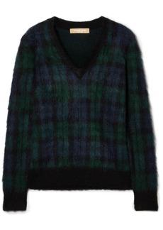 Michael Kors Tartan Mohair-blend Sweater
