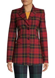 Michael Kors Tartan Wool Blazer