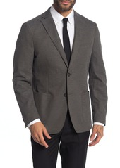 Michael Kors Taupe Solid Two Button Notch Lapel Slim Fit Jacket