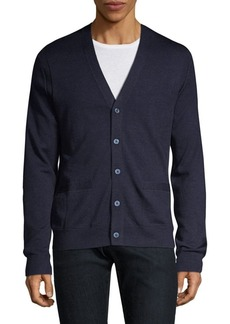Michael Kors Textured Merino Wool Cardigan