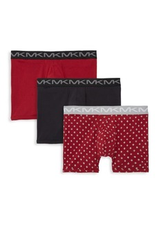 Michael Kors Three-Pack Logo Cotton Boxers