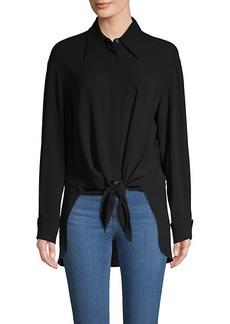 Michael Kors Tie-Front Silk Shirt