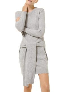 Michael Kors Tie-Waist Silk Sweater Dress