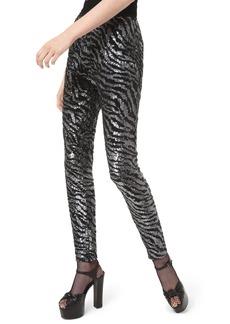 Michael Kors Tiger-Embroidered Cigarette Pants