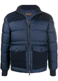 Michael Kors tonal panelled puffer jacket