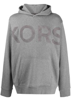 Michael Kors towelling-logo hooded sweatshirt