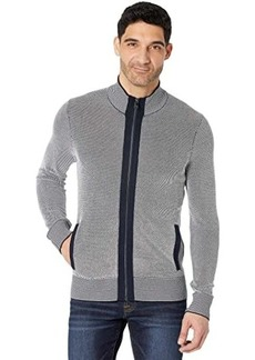 Michael Kors Two-Color Stitch Full Zip Sweater