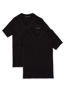 Michael Kors Two-Pack V-Neck Short-Sleeve Tees