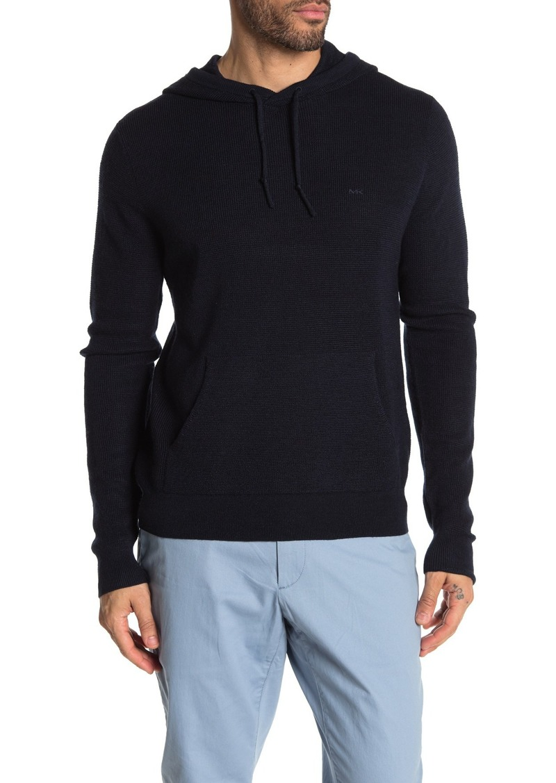 Michael Kors Waffle Knit Pullover Hoodie