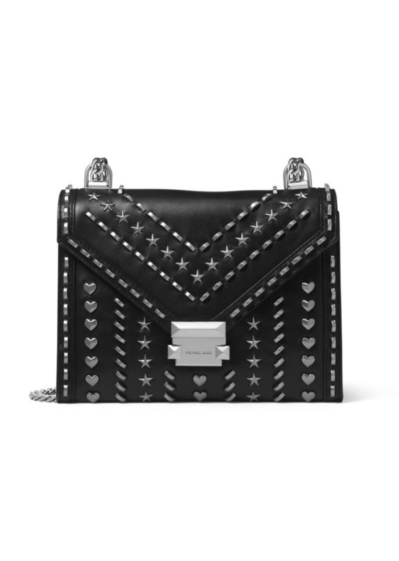56519b960b5b SALE! MICHAEL Michael Kors Whitney Studded Large Leather Shoulder Bag