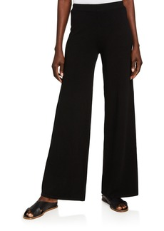 Michael Kors Wide-Leg Cashmere-Blend Pants