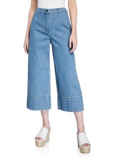 Michael Kors Wide-Leg Cropped Gaucho Jeans