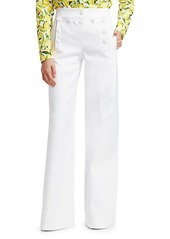 Michael Kors Wide-Leg Twill Sailor Pants