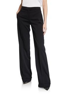Michael Kors Wide-Leg Wool-Gabardine Pants
