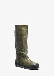 Michael Kors Winnie Nile Crocodile Rain Boot