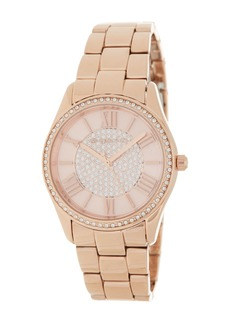 Michael Kors Women's Heather Crystal Pave Bracelet Watch, 34mm