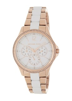Michael Kors Women's Orly Two-Tone Crystal Pave Bracelet Watch, 39mm
