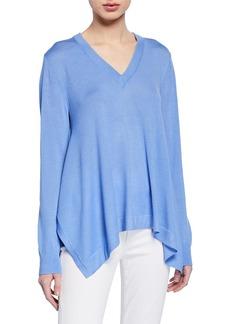 Michael Kors Wool-Blend Draped Long-Sleeve Pullover