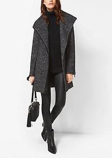 Michael Kors Wool-Blend Tweed Coat