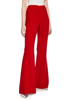 Michael Kors Wool-Crepe Side-Zip Pants