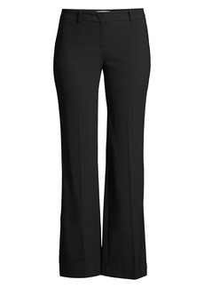 Michael Kors Wool Cropped Flare Trousers