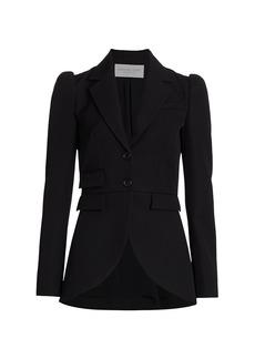 Michael Kors Wool Gabardine Cut Away Riding Jacket