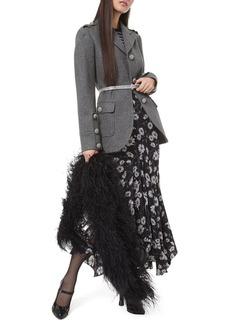 Michael Kors Wool Military Coat