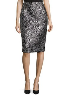 Michael Kors Zebra Jacquard Pencil Skirt
