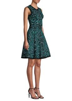 Michael Kors Zip Front Fit-&-Flare Dress