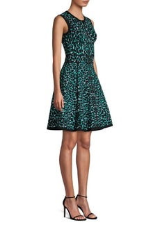 Michael Kors Zip Front Fit-&-Flare Dress