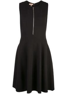 Michael Kors zip front flared dress