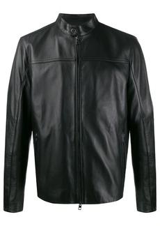 Michael Kors zip-front leather jacket