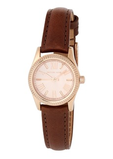 MICHAEL Michael Kors 26mm Lexington Mini Watch w/ Leather  Rose/Brown