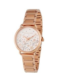 MICHAEL Michael Kors 32mm Portia Crystal Flower Bracelet Watch  Rose Golden