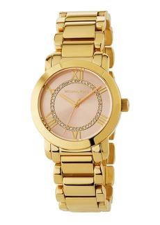 MICHAEL Michael Kors 33mm Bracelet Watch w/ Crystals  Gold/Rose
