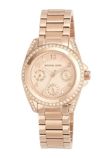 MICHAEL Michael Kors 33mm Mini Blair Glitz Chronograph Bracelet Watch  Rose Gold