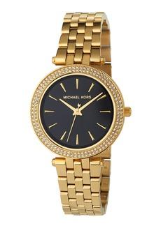 MICHAEL Michael Kors 33mm Mini Darci Glitz Bracelet Watch  Black/Gold
