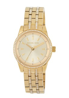MICHAEL Michael Kors 33mm Mini Ritz Crystal Pave Bracelet Watch  Golden