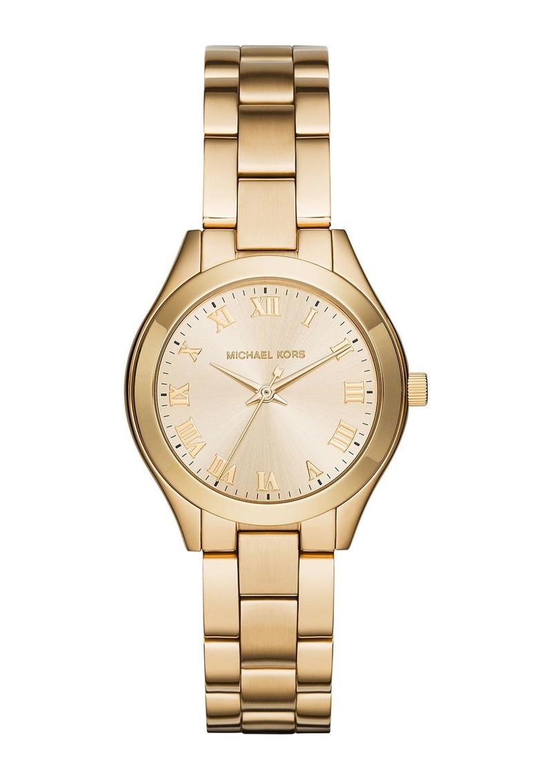 MICHAEL Michael Kors 33mm Slim Runway Bracelet Watch  Golden