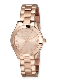 MICHAEL Michael Kors 33mm Slim Runway Bracelet Watch  Rose Gold