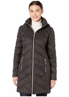MICHAEL Michael Kors 3/4 Packable Jacket with Chevron Quilt M824168TZ