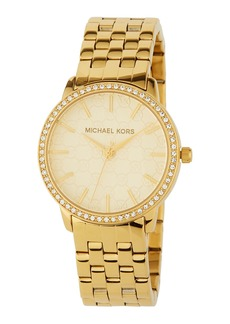 MICHAEL Michael Kors 35mm Crystal & Logo-Argyle Watch  Gold/Glitz