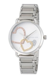 MICHAEL Michael Kors 36.5mm Crystal Heart Bracelet Watch