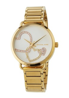 MICHAEL Michael Kors 36.5mm Crystal Heart Bracelet Watch  Yellow Golden