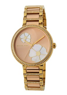 MICHAEL Michael Kors 36mm Courtney Flower & Crystal Bracelet Watch  Rose