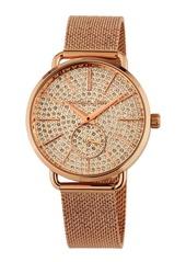 MICHAEL Michael Kors 36mm Portia Crystal Pave Mesh Watch  Rose Gold