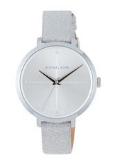 MICHAEL Michael Kors 38mm Charley Glitter Watch  Silver