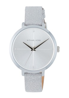 MICHAEL Michael Kors 38mm Charley Glitter Watch  Silver