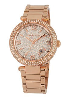 MICHAEL Michael Kors 38mm Crystal Pave Bracelet Watch w/ Date  Rose