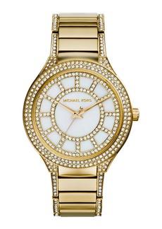 MICHAEL Michael Kors 38mm Kerry Crystal Bracelet Watch  Yellow Golden